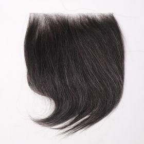 (受注生産品)  貼るかつら ナチュラルブラック 白髪10%入り 大判16cm角(型番:K243)