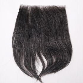 (受注生産品) 貼るかつら ナチュラルブラック 白髪20%入り 大判16cm角(型番:K245)
