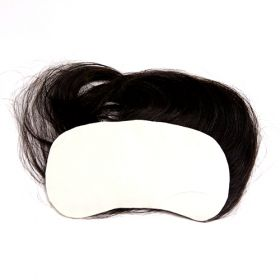 (受注生産品) 貼るかつら ナチュラルブラック 白髪30%入り 大判16㎝角