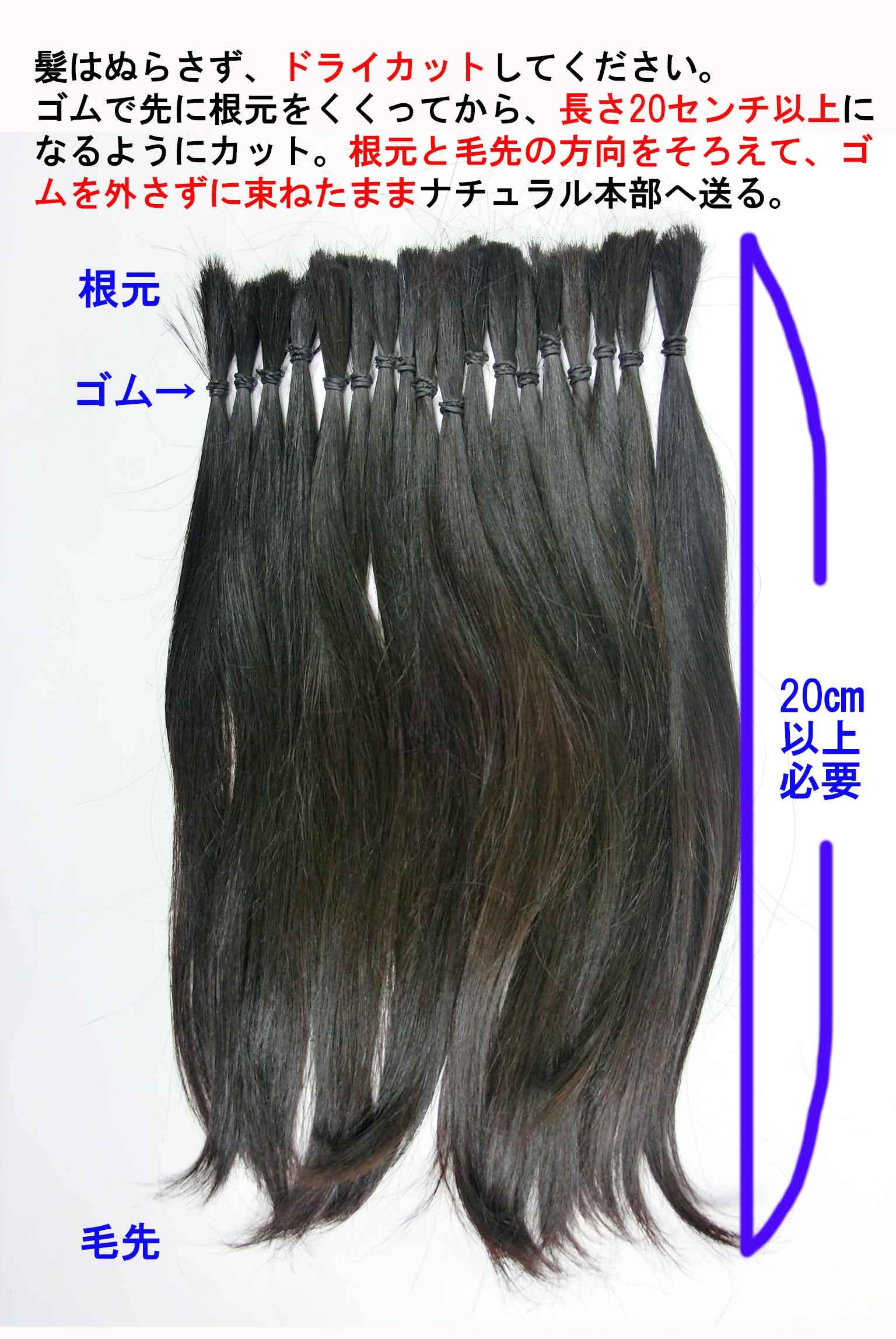 自毛のカット方法