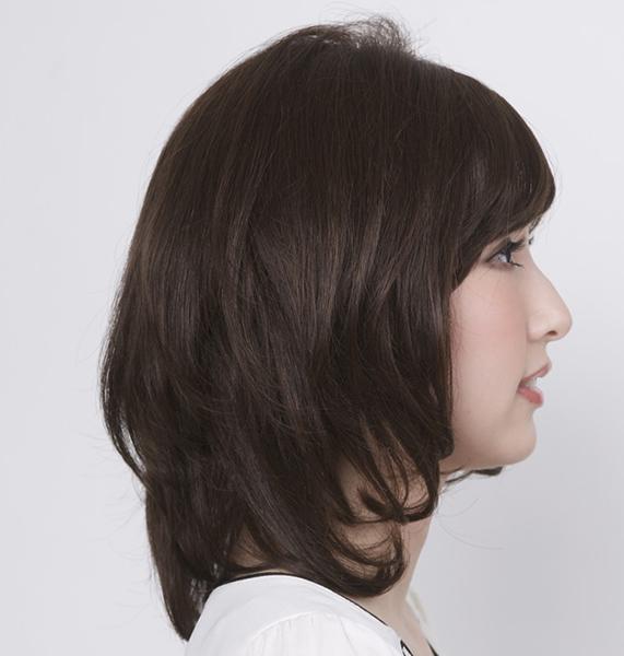ナチュラルの医療用ウィッグ女性用MQ600お好みのヘアスタイル