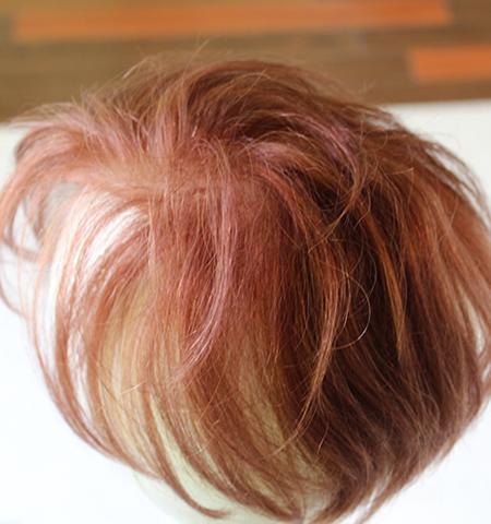 人毛の白髪100%かつらヘアピースウィッグ