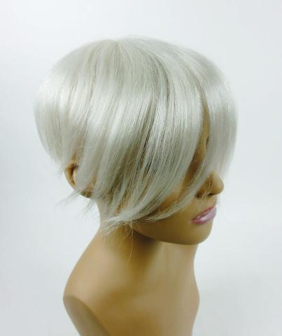 人毛白髪の貴重なウィッグ 自毛に白髪が多い人のためのヘアピース 白髪染めヘナもOK