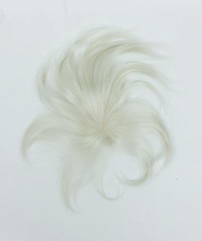 人毛白髪100%の貴重なウィッグ 自毛に白髪が多い人のためのヘアピース 白髪染めヘナもOK