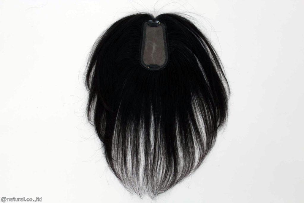 完成したお客様の自毛で作ったヘアピース裏側