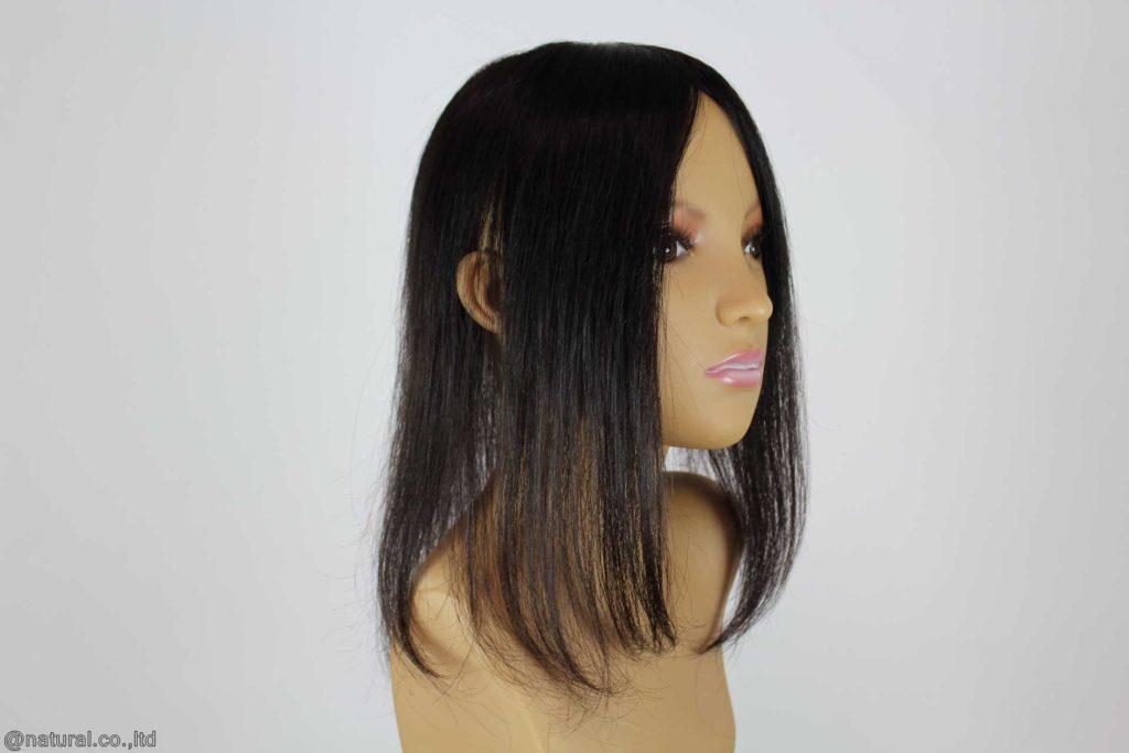 完成したお客様の自毛で作ったヘアピース