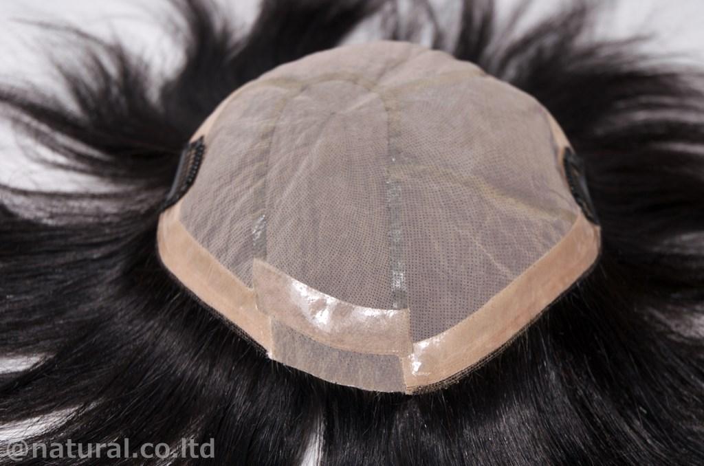シルクネットに最高級レミーヘアを丁寧に1本植え