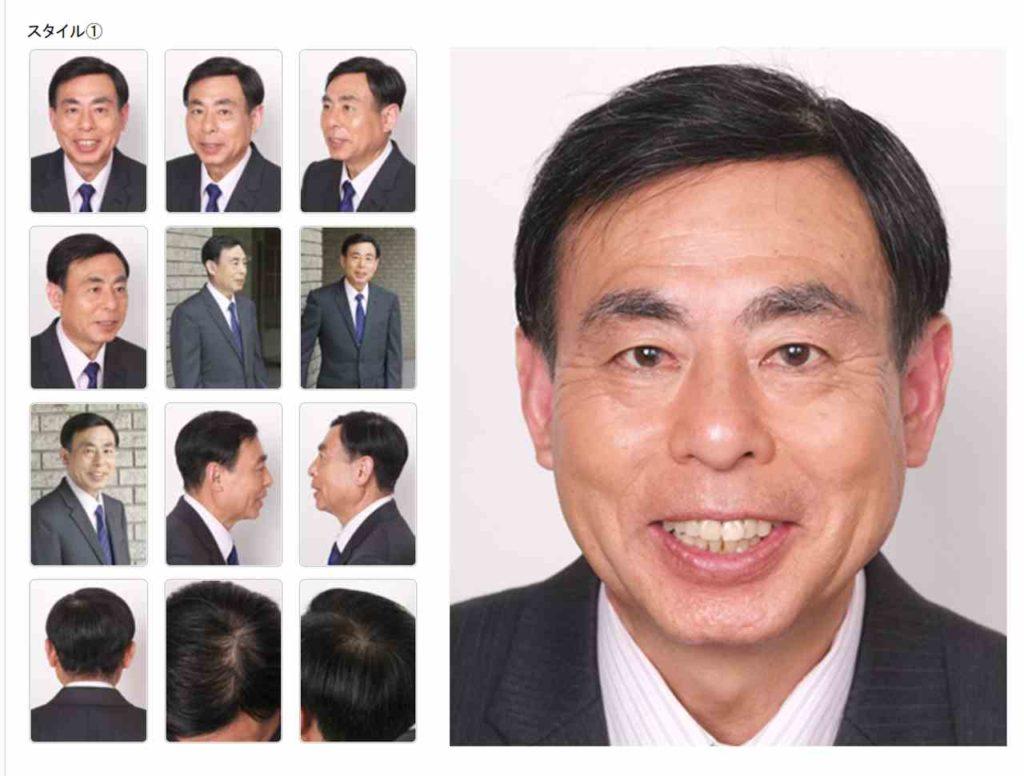 オーダーメイドかつら ご年配の男性モデル比較写真