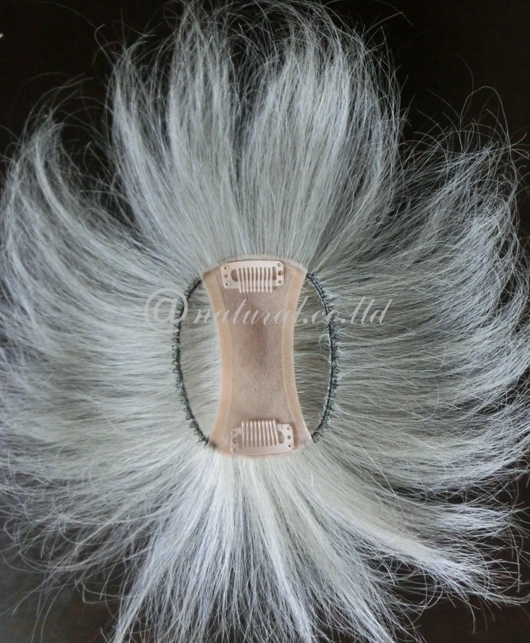 白髪で作ったヘアピース