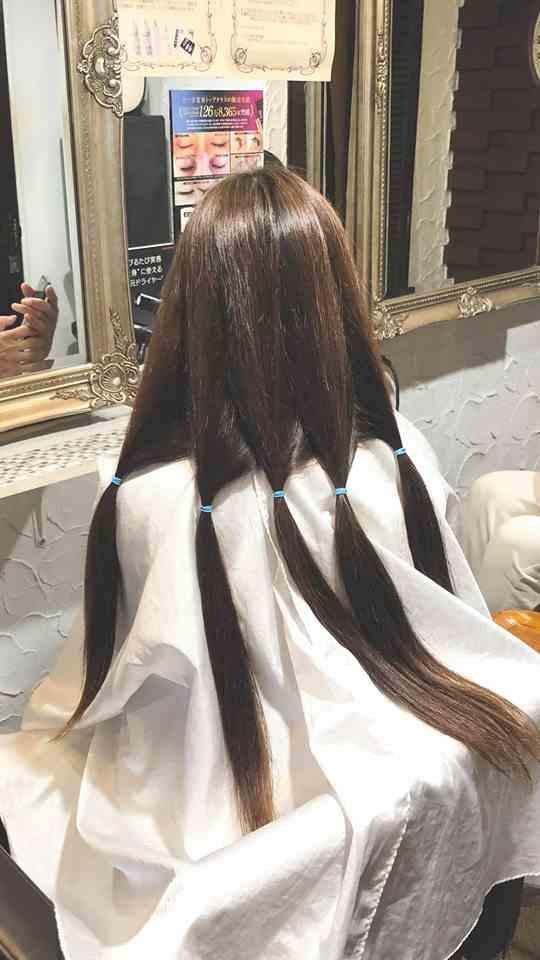 自分の髪で作るウィッグ