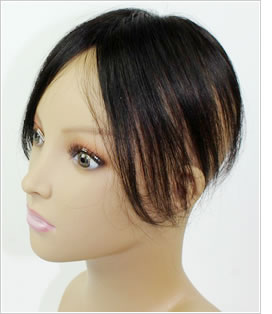 小さめのヘアピース 地毛で作成するウィッグ