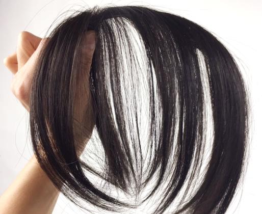 分け目の白髪隠しウィッグ小さなヘアピース